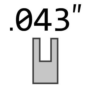 "3/8"" LP Pitch 043"" 1.1 mm Gauge Chains"