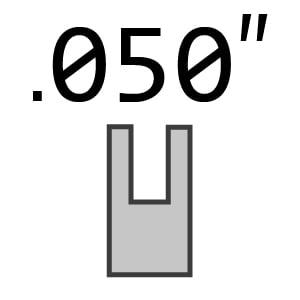 "1/4 Pitch 050"" 1.3 mm Gauge Chain"