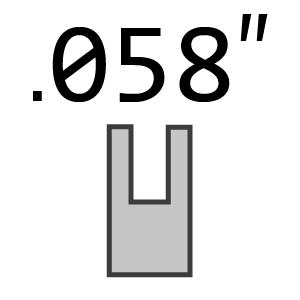 "3/8"" Pitch 058"" 1.5mm Gauge Chain"