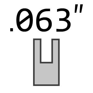 ".404 Pitch 063"" 1.6mm Gauge Chain"