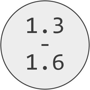 1.3mm - 1.6mm Line