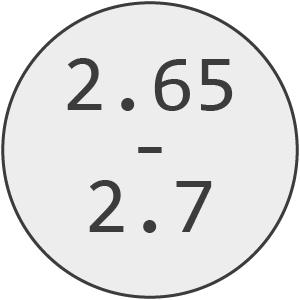 2.65mm - 2.7mm Line